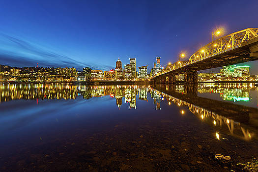 Portland Downtown Blue Hour by David Gn