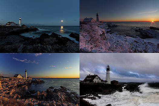 Portland Head Light Day or Night by Darryl Hendricks