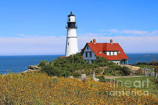 Portland Head Light by Marcel  J Goetz  Sr