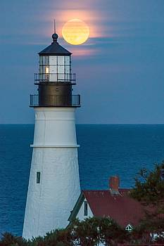 Portland Head Light Moonrise by Tim Sullivan