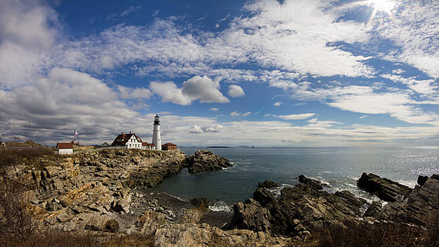 Portland Head Light Seascape by Kirkodd Photography Of New England