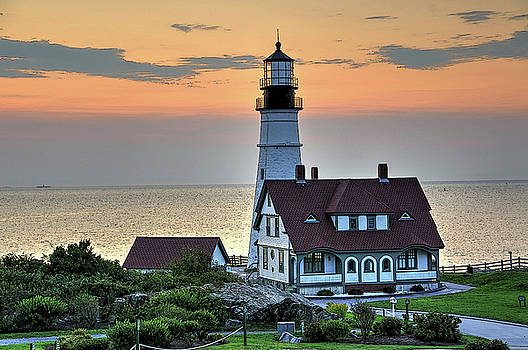 Portland Head Lighthouse At Daybreak 2 by Liz Mackney