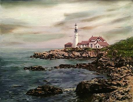 Portland Head Lighthouse Maine by Victor SOTO
