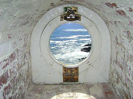 Portland Head Lighthouse Porthole by Beverly Kobee