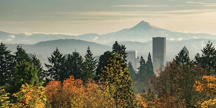Portland in Autumn by Don Schwartz