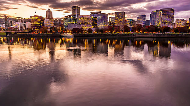 Portland Or Cityscape by David Rigg