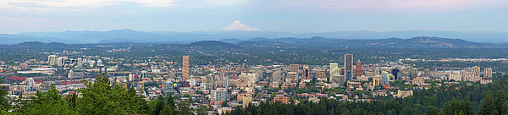 Portland Oregon Cityscape Daytime Panorama by David Gn