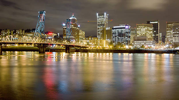 Portland Oregon Skyline Reflections by Dustin K Ryan