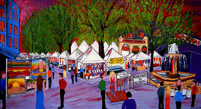 Portland Saturday Market #1 by Portland Art Creations