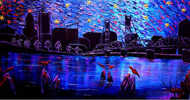 Portland Starry Night #3 by Portland Art Creations