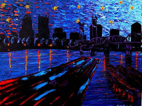 Portland Starry Night #6 by Portland Art Creations