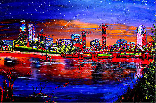 Portland Starry Night #8 by Portland Art Creations