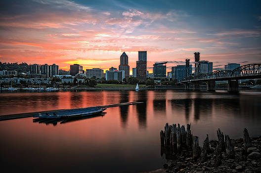 Portland Sunset by Brian Bonham