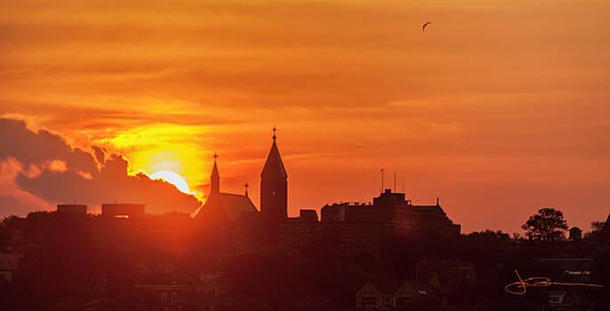 Portland Sunset w/ Bird by Jim Bunstock