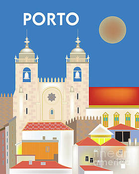 Porto, Portugal Vertical Skyline by Karen Young