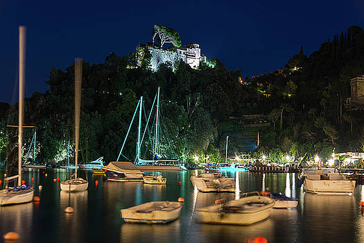 PORTOFINO BAY BY NIGHT IV - Castello Brown Castle by Enrico Pelos