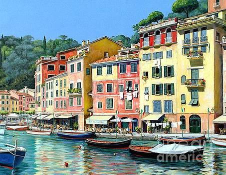 Portofino Sunshine 30 x 40 by Michael Swanson