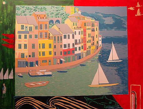Portofino with birds by Biagio Civale