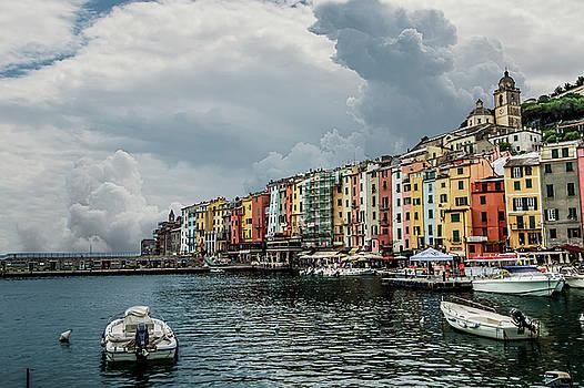 Portovenere before storm by Alida Thorpe