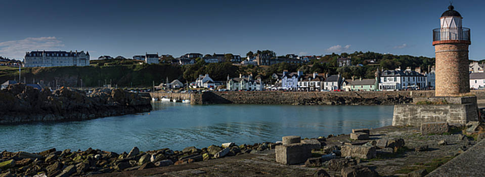 Portpatrick Harbour and Lighthouse by Alex Saunders