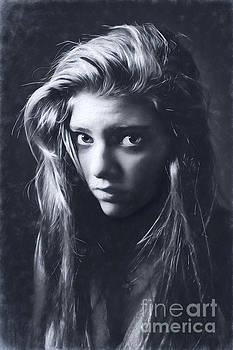 Portrait - All In The Eyes by Feryal Faye Berber