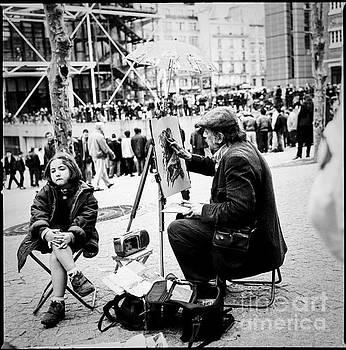 Cyril Jayant - Portrait artist in Paris near Centre Pompidou.