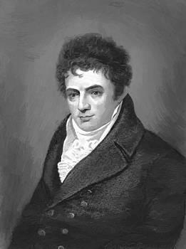 West Benjamin - Portrait Engraving Of Robert Fulton Steamboat Innovator