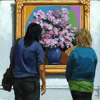 Portrait Figurative - Lilacs by Linda Apple