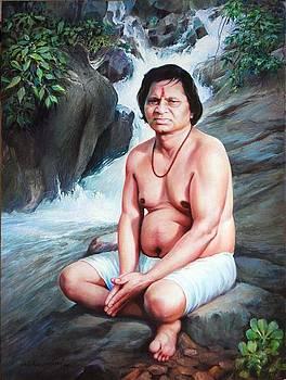 Portrait Gulab baba  by Milind Shimpi