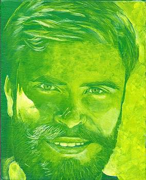 Portrait in green by John Neeve