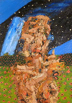 Portrait In Landscape With Stars by JC Armbruster