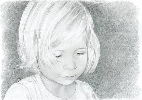 Portrait of a child 2 by Bitten Kari