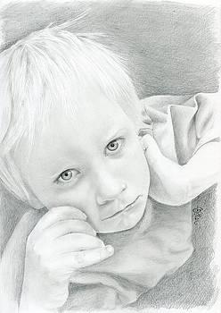 Portrait of a child by Bitten Kari