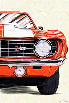 Portrait Of A Classic - 1969 Camaro by Mark Tisdale