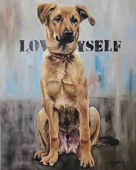 Portrait of a dog by Arion Khedhiry
