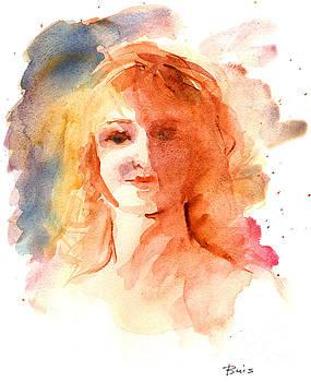 Portrait of a Girl by Lela  Buis