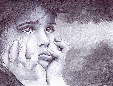 Portrait Of A Girl by Oleg Kozelskiy