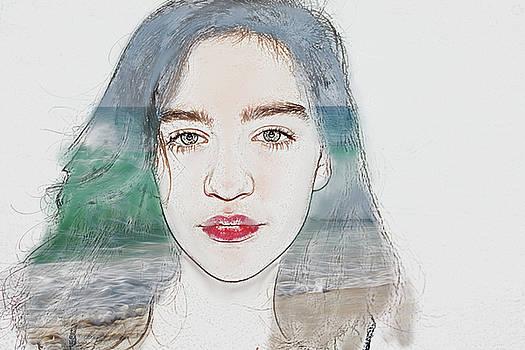 Portrait Of A Girl - Sea by Tatiana Tyumeneva