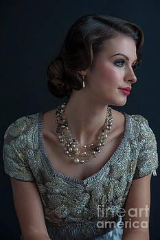 Portrait Of A Glamorous 1930s Socialite  by Lee Avison