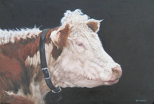 Portrait of a Hereford by Donna Ellery