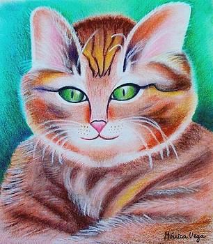 Portrait of a Kitten by Monica  Vega