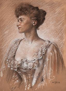 Portrait of a lady by Edward John