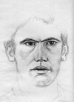 Portrait of a man 2 by Annemeet Hasidi- van der Leij