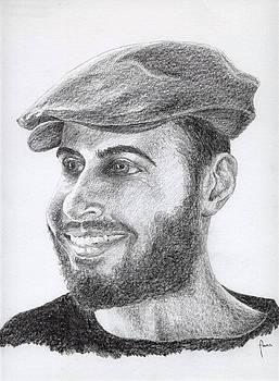 Portrait of a man by Annemeet Hasidi- van der Leij