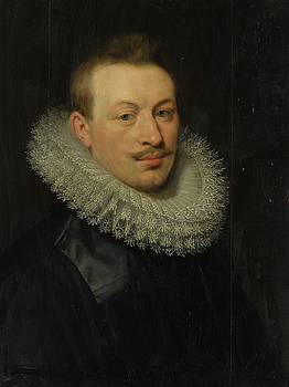 Portrait Of A Man Wearing A Lace Ruff by MotionAge Designs