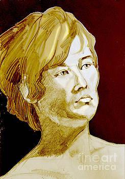 Portrait of a Pensive Young Woman by Greta Corens