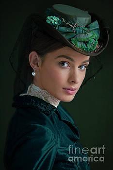 Portrait Of A Victorian Woman 1880s by Lee Avison