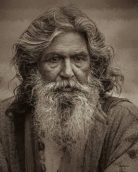 Portrait of a Wise Man - Painting by Ericamaxine Price
