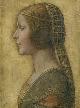 Leonardo Da Vinci - Portrait Of A Young Fiancee