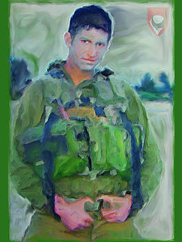 Portrait of a Young Man Soldier in Uniform Combat - War is Too Costly on Teen and Dear Life to Waste by Exclusive Canvas Art